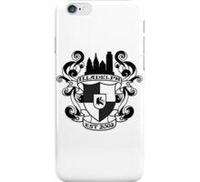 Illadelph Crest Sticker (Black) iPhone Case/Skin