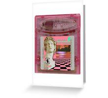 Macintosh Plus Vaporwave Gameboy Cartridge  Greeting Card