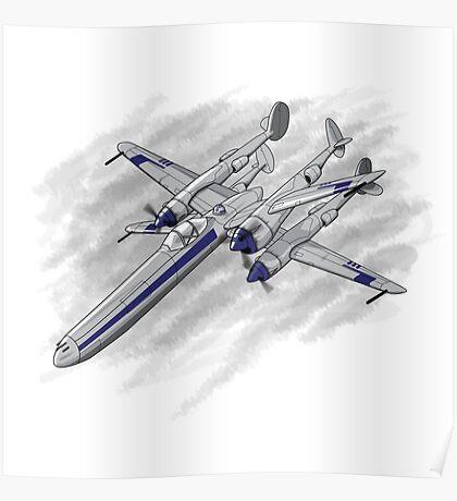 X Plane Poster