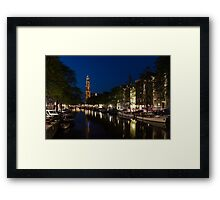 11:05PM Blue Hour - Magical Amsterdam in June Framed Print