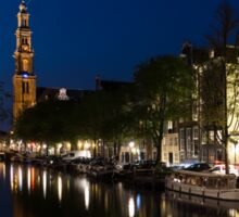 11:05PM Blue Hour - Magical Amsterdam in June Sticker