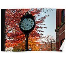 Clock at Keene Pumpkin Festival Poster