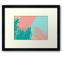 Pastel Colored Abstract Brush Strokes Framed Print