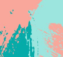 Pastel Colored Abstract Brush Strokes Sticker