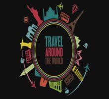 travel around the world One Piece - Short Sleeve