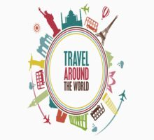 travel around the world Kids Tee