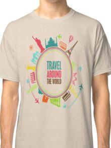 travel around the world Classic T-Shirt