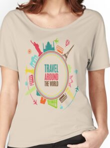 travel around the world Women's Relaxed Fit T-Shirt