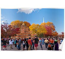 Autumn Scene at Keene Pumpkin Festival Poster