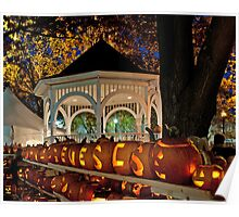 Gazebo and Pumpkins at Keene's Pumpkin Festival Poster