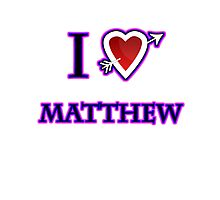 i love matthew heart  Photographic Print