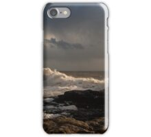 Rough sea at Porthcawl iPhone Case/Skin