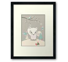 Christmas baby fox 07 Framed Print