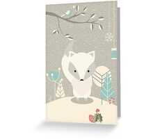 Christmas baby fox 07 Greeting Card