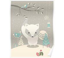 Christmas baby fox 07 Poster