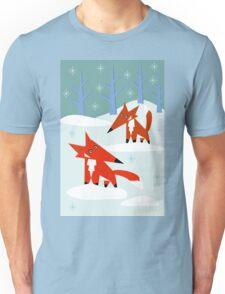 Snow Foxes Unisex T-Shirt