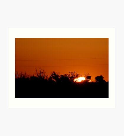 Tucumcari Sunrise Art Print