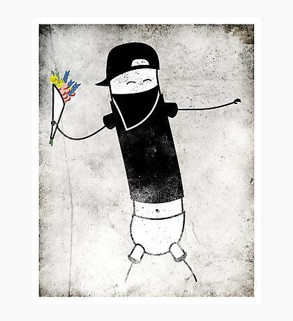 Le Banksy Photographic Print