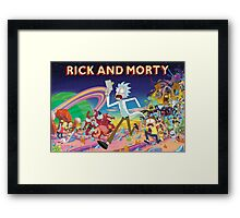 Rick And Morty..........And Monsters Framed Print