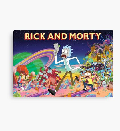 Rick And Morty..........And Monsters Canvas Print