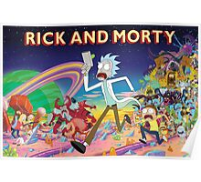 Rick And Morty..........And Monsters Poster