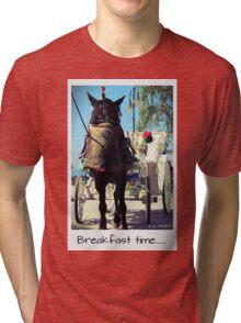 Breakfast bag.. Tri-blend T-Shirt