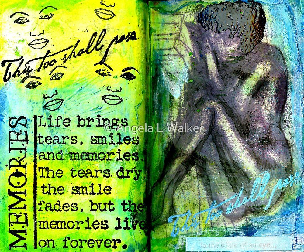 Remembering My Son -  Art Journal Entry by © Angela L Walker