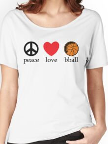 Peace Love Basketball Women's Relaxed Fit T-Shirt