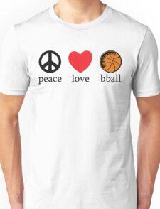 Peace Love Basketball Unisex T-Shirt