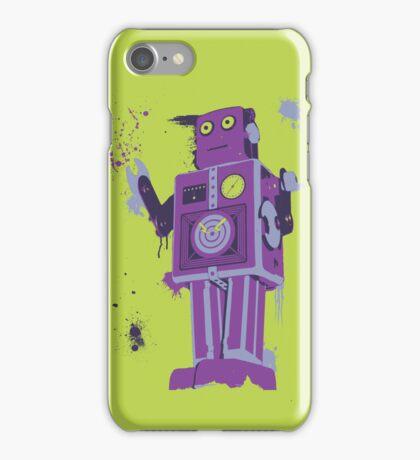 Green Tin Robot Splattery Shirt or iPhone Case iPhone Case/Skin