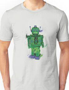 Green Splattery Toy Robot Shirt or iPhone Case Unisex T-Shirt