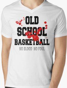 Old School Basketball Mens V-Neck T-Shirt