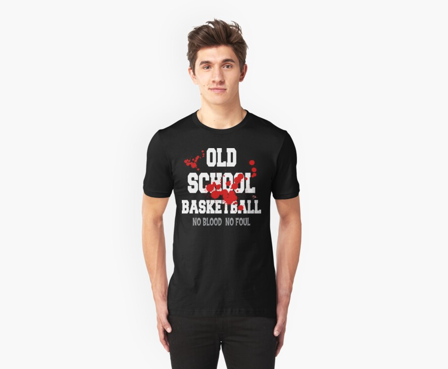 Old School Basketball Dark by SportsT-Shirts