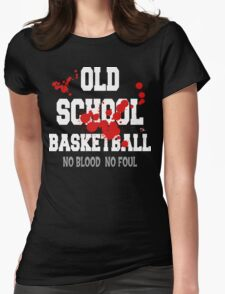 Old School Basketball Dark Womens Fitted T-Shirt
