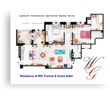 Apartment of Will Truman and Grace Adler Canvas Print