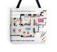 Apartment of Will Truman and Grace Adler Tote Bag