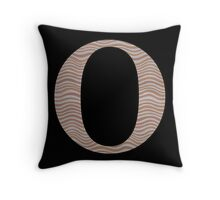 Letter O Metallic Look Stripes Silver Gold Copper Throw Pillow