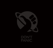 Hitchhicker Thumb Don't Panic - Black by sanseref