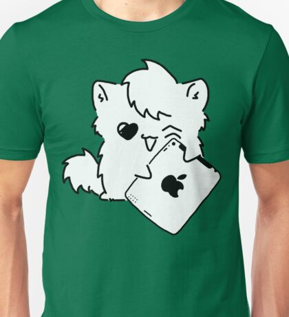 Kitty Loves iDevices! (shirt) Unisex T-Shirt