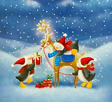 Penguin and Reindeer by Susan S. Kline