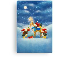 Penguin and Reindeer Canvas Print