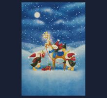 Penguin and Reindeer One Piece - Long Sleeve