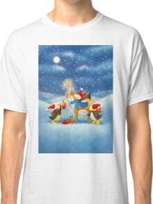 Penguin and Reindeer Classic T-Shirt