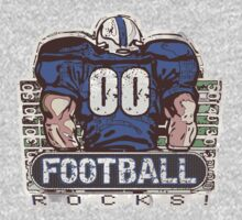 00 Football Rocks Blue Team by MudgeStudios