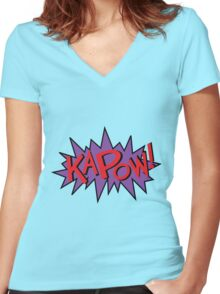 kapow Women's Fitted V-Neck T-Shirt