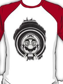 Super Mario Tripping Bros. Geek Line Artly  T-Shirt