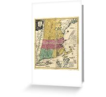 Old Map of New England (1777) Greeting Card