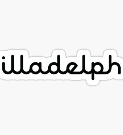 Illadelph Logo Sticker (Black) Sticker
