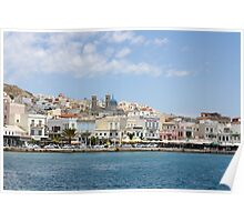 The Harbor at Syros Poster