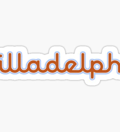 Illadelph Logo Sticker (Orange/Blue) Sticker